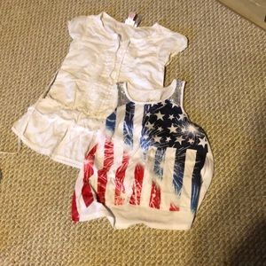 2 Size 6 Justice tops